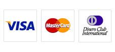 VISA、MasterCard、DinersClubに対応しています。