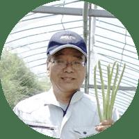 笑顔の農事組合法人諏訪代表生産担当者井上さん