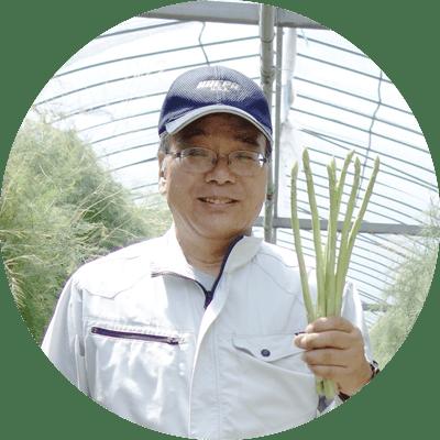 笑顔の生産農家、井上さん