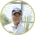笑顔の農事組合法人諏訪代表生産者井上さん