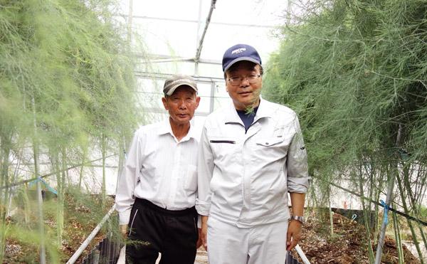 ブランドアスパラ「さぬきのめざめ」を生産している、農事組合法人諏訪さん